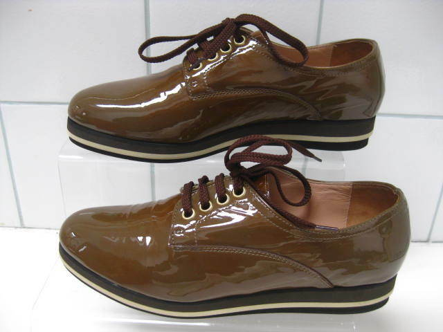 NEW NEW NEW Ladies STEFANO STEFANI lace up real leather brogues shoes size UK 3.5 704290