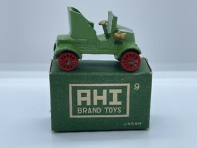 Vintage 1950鈥檚 Japan AHI TOYS Miniature 1903 Rambler W/Box Antique Vtg NOS NIB