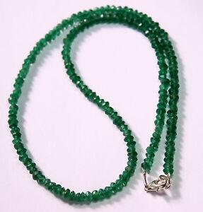 Aventurin Collana Pietre Preziose Sfaccettato Verde Lenti Circa 45 CM Lungo