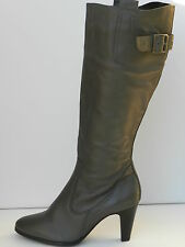 M&S Chaussures Femme 40,5 Bottes Marks and Spencer Boots Grey Leather  UK7 Neuf