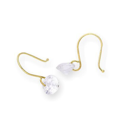 Real 375 9ct Gold /& Pearl Dangle Earrings Drop Fish Hooks Marine Ocean Sea
