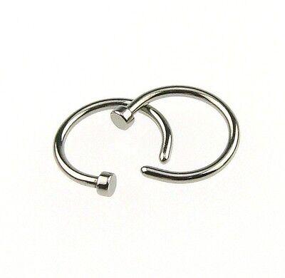 2pcs Hot Stainless Steel Nose Open Hoop Ring Earring Body Piercing Jewelry