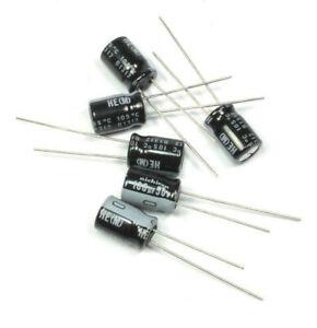 New 5 x 100uf 50v Nippon Radial Electrolytic Capacitors