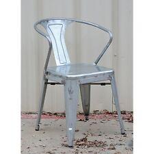 Item 7 Retro Cafe Tolix Style Arm Chair Gun Metal Galvanized Steel  Industrial  Retro Cafe Tolix Style Arm Chair Gun Metal Galvanized Steel  Industrial