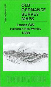 OLD ORDNANCE SURVEY MAP HOLBECK /& NEW WORTLEY 1906 CENTRAL STATION BROWN LANE