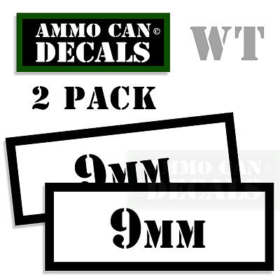 MAGAZINES Ammo Can Box Decal Sticker bullet ARMY Gun safety Hunting 2 pack YW