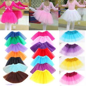 Ballet-Tutu-Dress-Up-Dance-Wear-Costume-Party-Girls-Toddler-Kids-Skirt-US