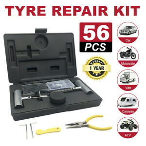 56PCS-Tyre-Puncture-Repair-Recovery-Kit-Heavy-Duty-4WD-Offroad-Plugs-Tubeless