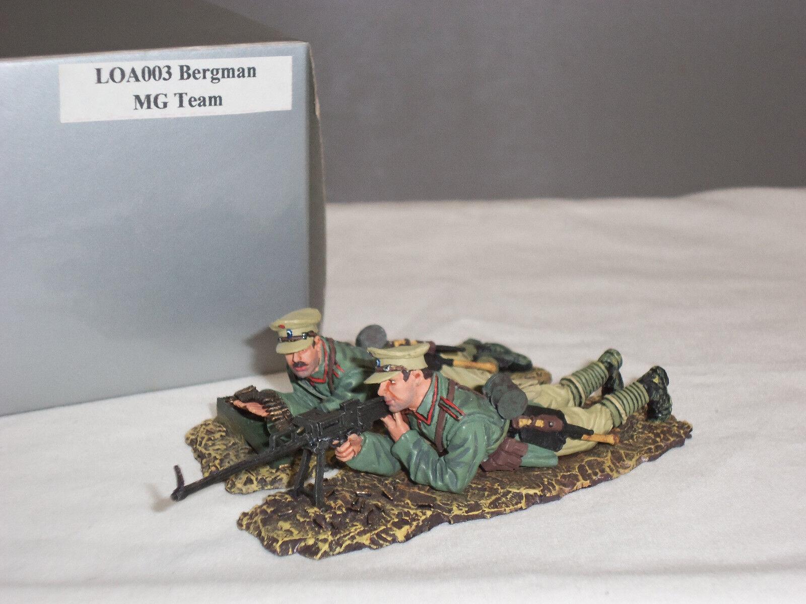 THOMAS GUNN LOA003 WW1 GERMAN BERGMAN MG15 GUN TEAM DESERT TOY SOLDIER SET