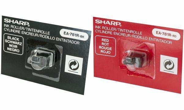 Farbrolle für SHARP Tischrechner Modell EL-1801C/E, schwarz