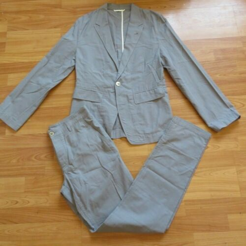 MEN'S ANN DEMEULEMEESTER GRAY JACKET AND PANTS SUI
