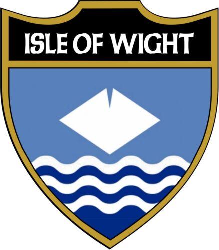 Isle of Wight New Flag Shield Exterior Vinyl Decal Car Caravan Camper Mobile x2