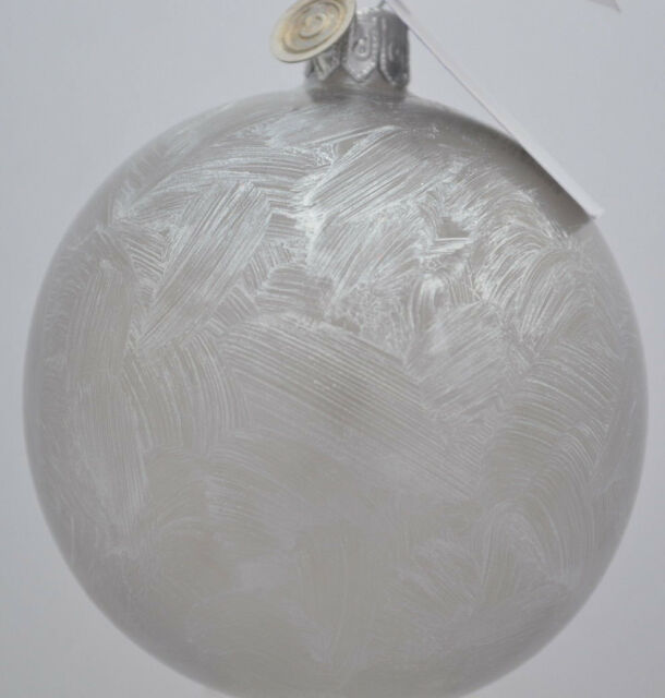 Christbaumkugeln Grau.12 Drescher Weihnachtskugeln Glas Grau Silber Eislack Christbaumkugeln