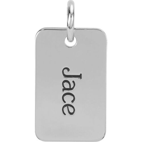 Posh Mommy Jewelry Dog Tag Silver or Gold Pendant Customized Free Engraving!