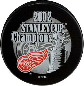 Detroit-Red-Wings-Unsigned-2002-Stanley-Cup-Champs-Logo-Hockey-Puck-Fanatics