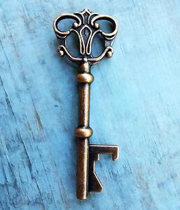 Details about Large Skeleton Key Bottle Openers Copper Wedding Favors 50  Keys Bulk Lot Rustic