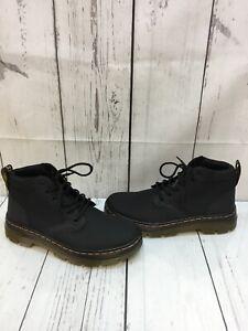 Womens Dr Martens Bonny Black Canvas Ankle Lace Up Boots Size