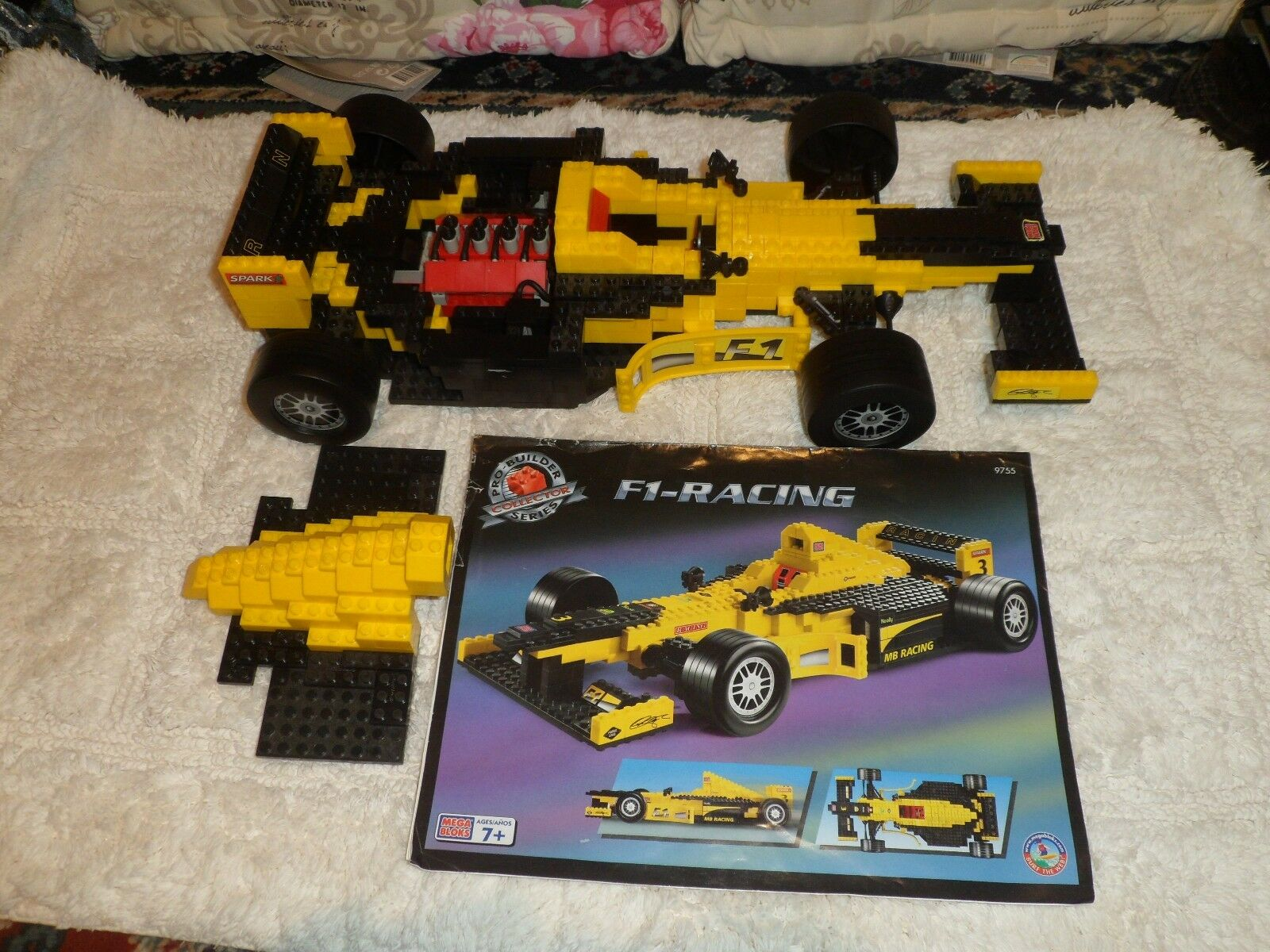 Rare, MEGA BLOKS PRO-BUILDER COLLECTOR SERIES-F1-RACING, 9755, from 1999, 7+