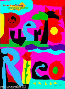 Puerto Rico Caribbean Sea Vintage United States Travel Advertisement Poster 2