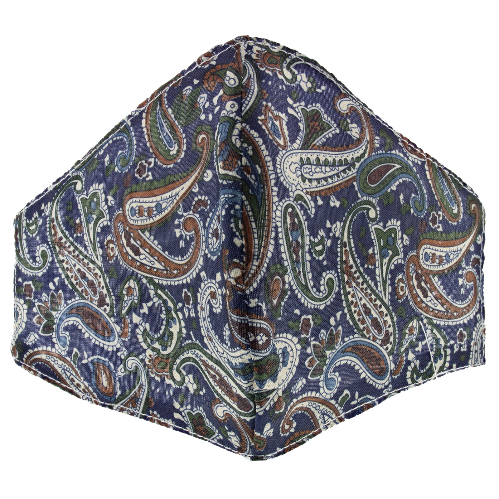 Classic Paisley Print Cotton Face Mask/ Cover