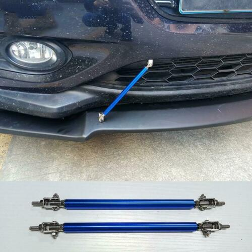 150mm Blue Adjustable Front Bumper Rod Splitter Spoiler Strut Support Tie Bars