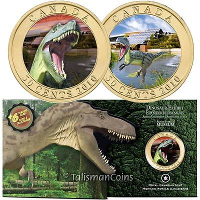 Details about  /Canada 2010 Dinosaur Exhibit 50 Cents Sinosauropteryx 3D Lenticular Effect
