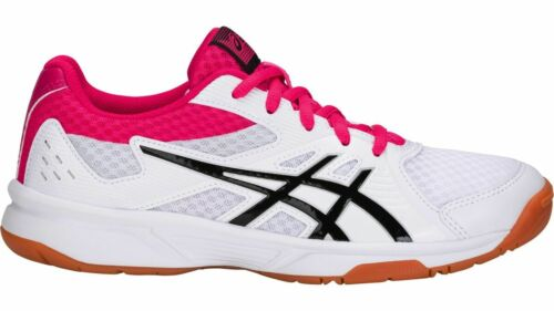 Asics Upcourt Rosa W Shoe Bianco Indoor Womens Sport 3 rHxzSrwv