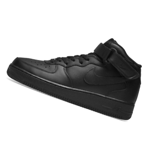 NIKE-MENS-Air-Force-1-Mid-039-07-Black-315123-001