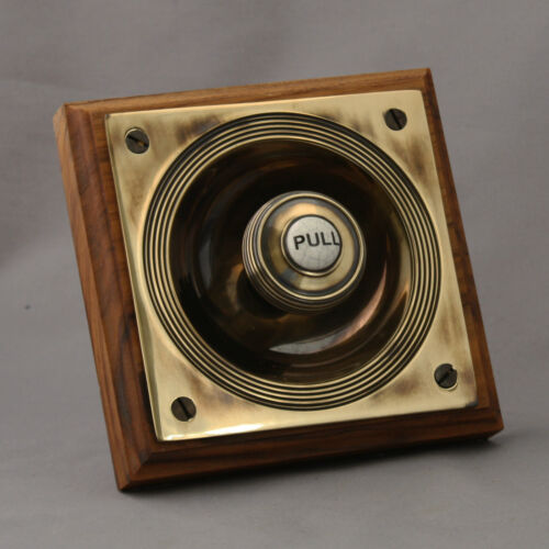 Brass Claverley Front Door Bell Pull