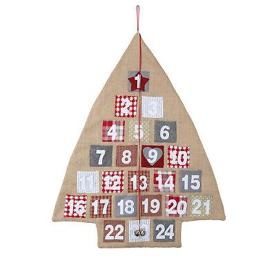 NEW Australian House & Garden Eucalyptus  Burlap Christmas Tree Advent Calendar