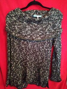Antonio-Molina-size-large-Women-039-s-Long-Sleeve-Sweater-Cowl-Neck