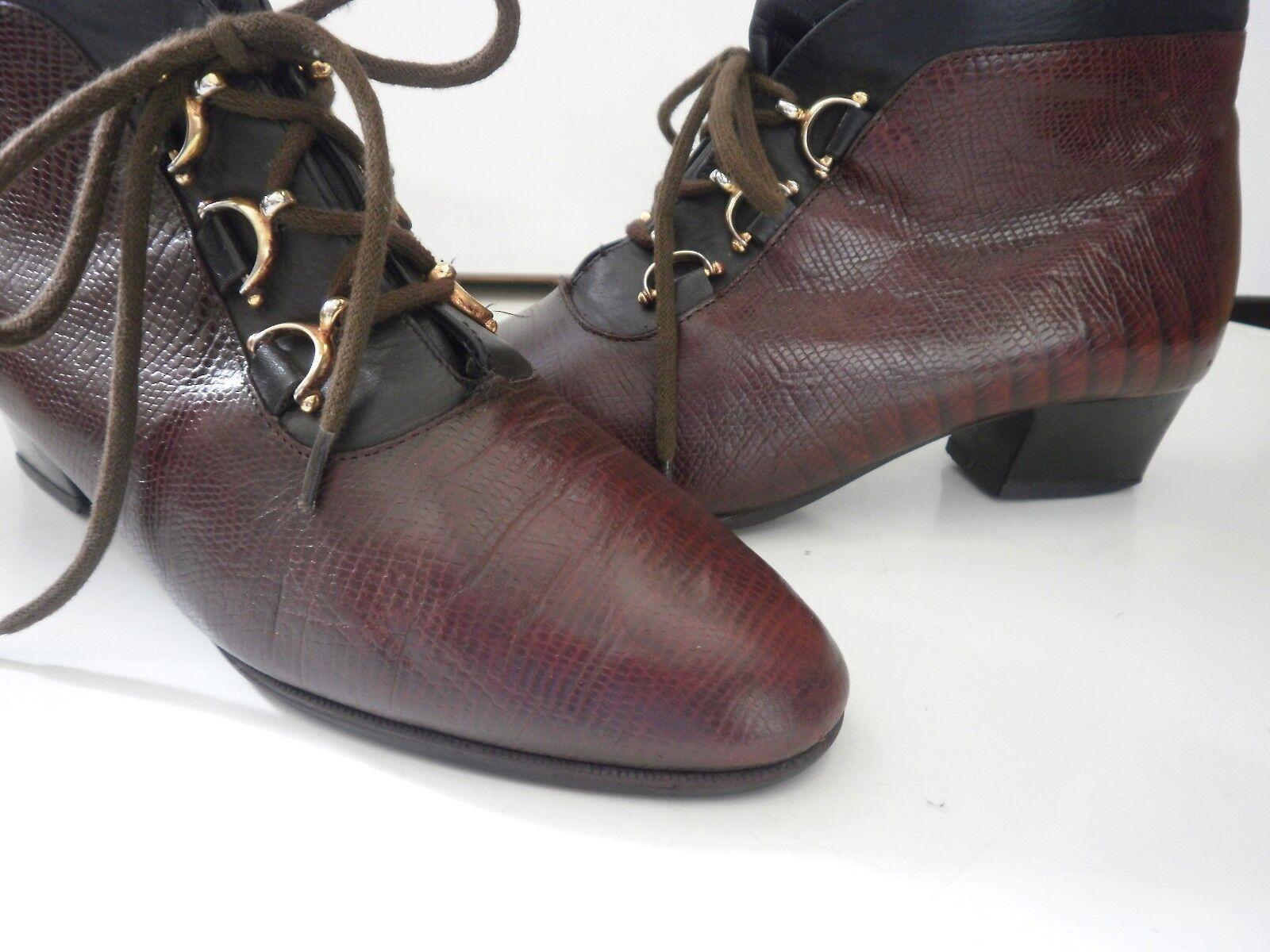 Schnürstiefel Stiefelette Damen Stiefel DORNDORF TRUE VINTAGE  ankle boot geprägt