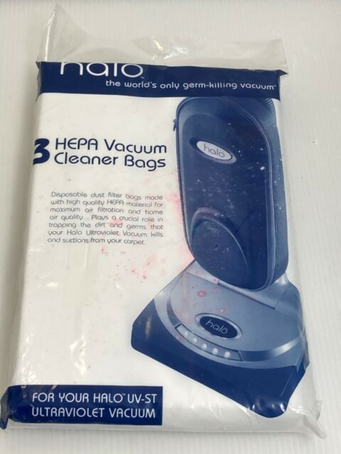 Halo Hepa UV-ST Ultraviolet Vacuum Cleaner Bags New 1 pkg of 3            M41