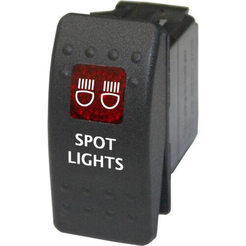 Rocker Switch Marine 716 SPOT LIGHTS RED waterproof boat  on off