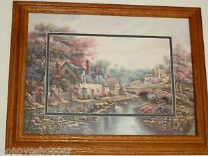 Carl-Valente-Valley-River-Beck-Print-Double-Matted-Wood-Oak-Frame-Glass-19-034