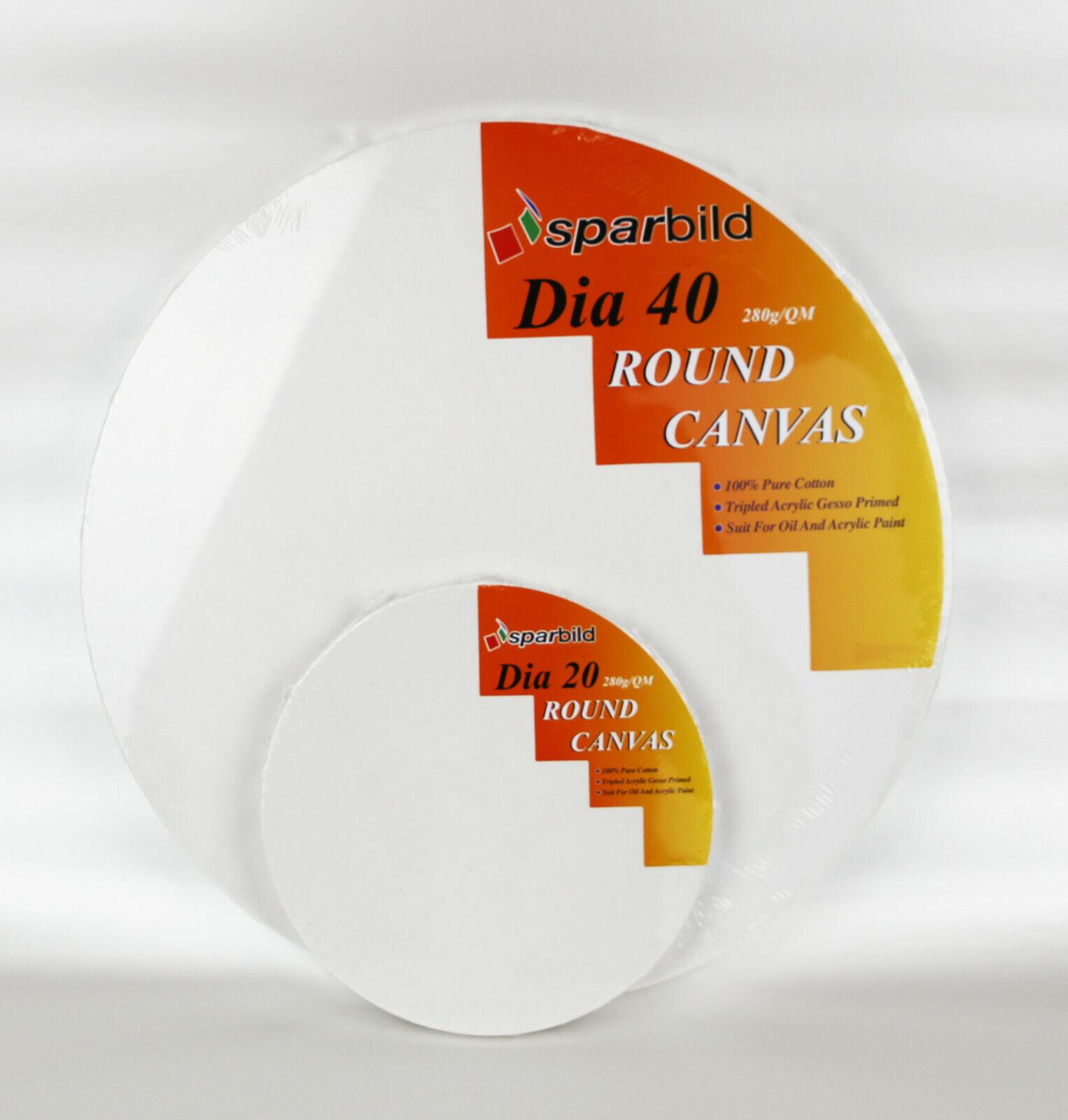 Runde Leinwände auf Keilrahmen zum Malen rund Leinwand Künstlerbedarf 280 g//m²