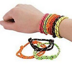 Pack of 24 - Retro Friendship Bracelets - Party Bag Fillers