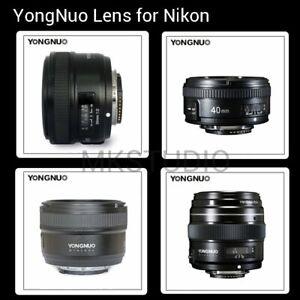 Yongnuo-YN-100mm-50mm-40mm-35mm-EF-MF-AF-Prime-Fixed-Lens-for-Nikon-Camera