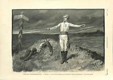 Bataille de Wagram Grenadier L'Aiglon Duc de Reichstadt ANTIQUE PRINT 1900