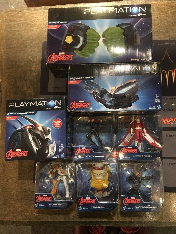 Marvel Avengers Jugarmation LOT  Bot Gear Figuras