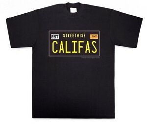 STREETWISE-CALIFAS-T-shirt-Vintage-CA-License-Plate-Design-Tee-Adult-Men-NWT