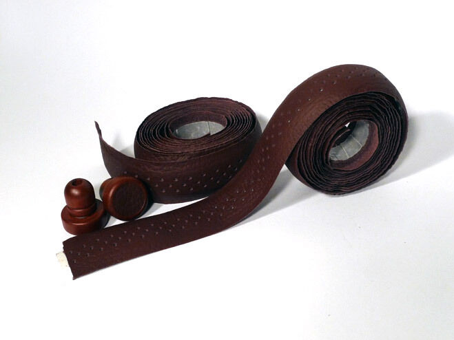 Vintage Classic Retro Road Bicycle Leather Handlebar Tape (Brown)