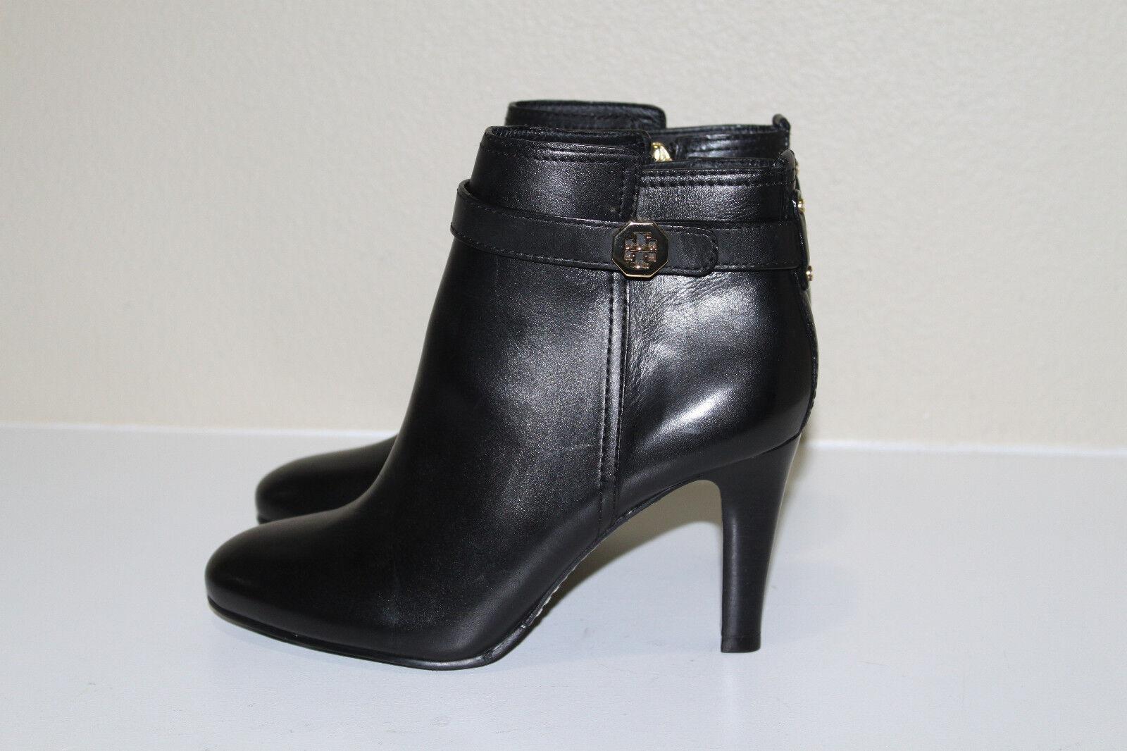 negozio online Tory Burch Bristol nero Leather Logo Logo Logo Ankle Riding Short avvio scarpe 11  senza esitazione! acquista ora!
