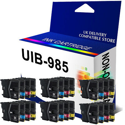 24 Compatible INK CARTRIDGE LC985 LC975 For Brother DCP-J315W DCP-J140W Printer