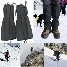 1 Pair Waterproof Outdoor Hiking Walking Climbing Hunting Snow Legging Gaiters K