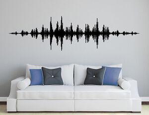 Das Bild Wird Geladen  Wandaufkleber Music Waves Kinderzimmer Sound Musik Techno Wohnzimmer
