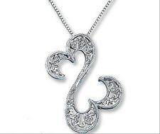Jane Seymour Open Hearts Necklace Diamond Accents Sterling Silver