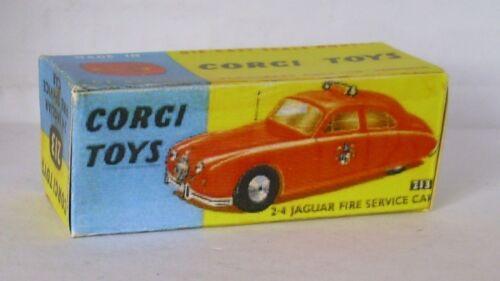 Repro Box Corgi Nr.213 2,4 Jaguar Fire Service Car