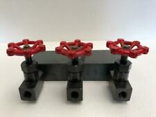Hydraulic Manifold 3 Needle Valves For Hydraulic Cylinder 700 Bar10000 Psi