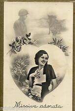 Missiva adorata Donnina Soldato WWII PC Circa 1940